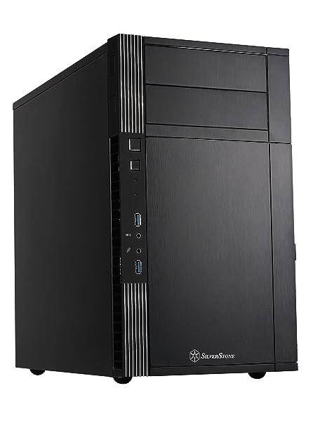 SilverStone SST-PS07B - Carcasa de ordenador Precision Mini Torre Micro ATX, negro, negro