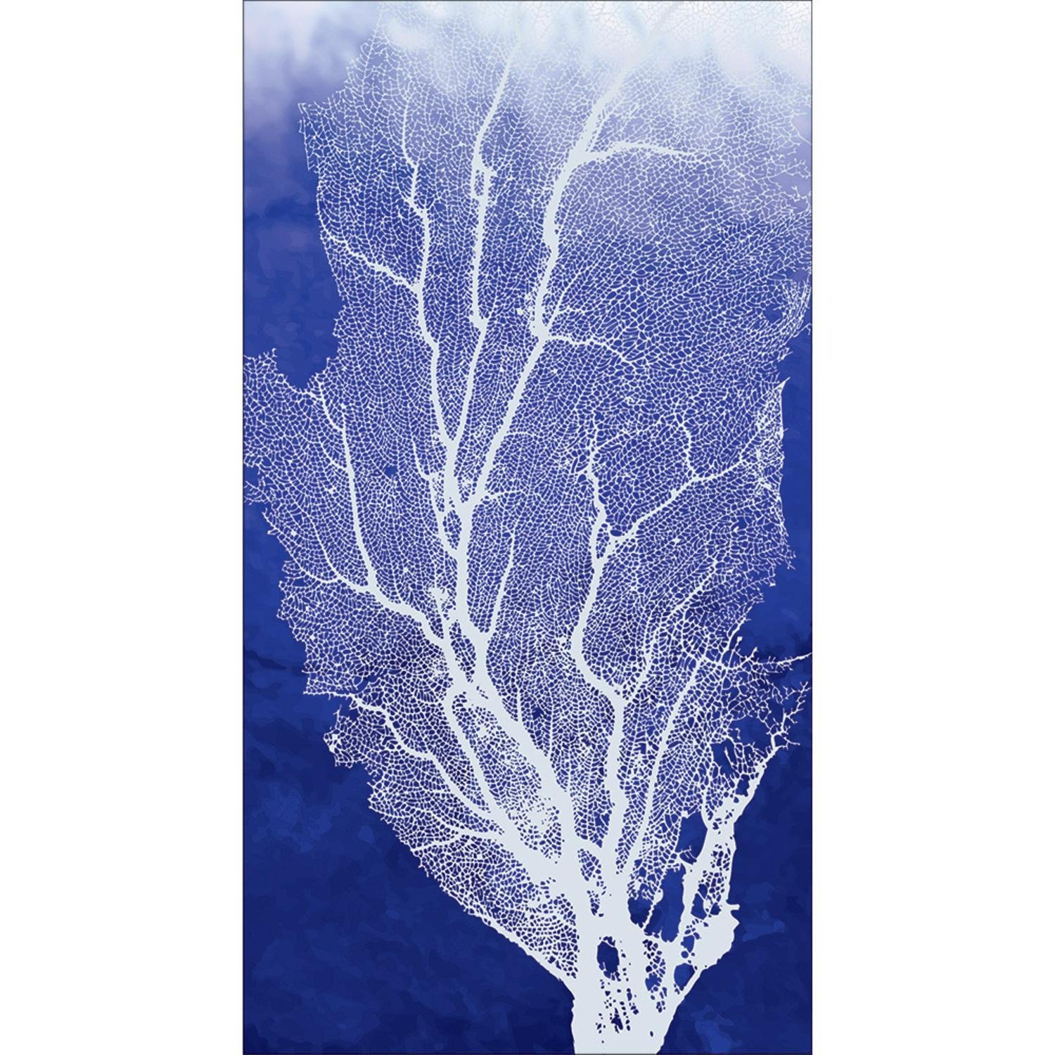 OKSLO Club pack of 192 blue and white marine coral disposable party napkins 8