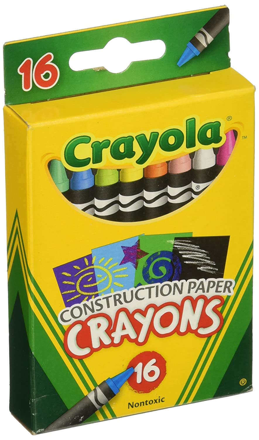 Assorted Colors Crayola Construction Paper Crayons Set of 16 52-5817