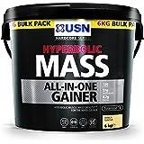 USN Hyperbolic Mass All-In-One Gainer Shake Powder, Vanilla, 6 kg