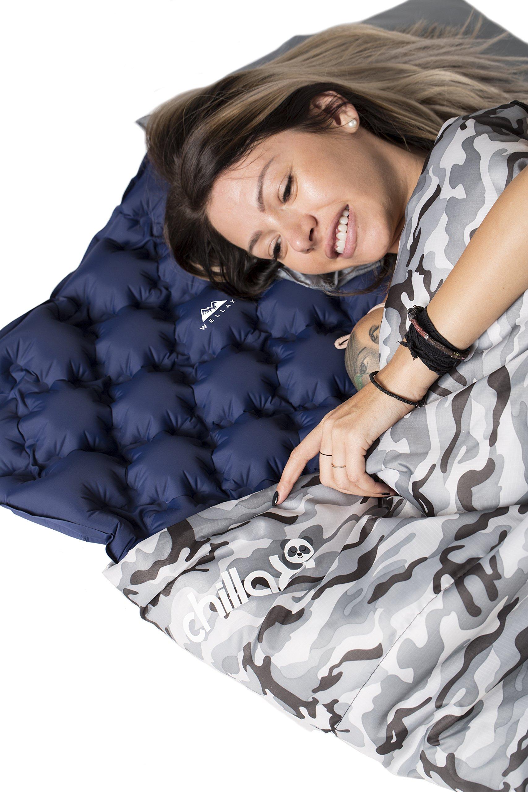 WELLAX Ultralight Air Sleeping Pad - Inflatable Camping ...