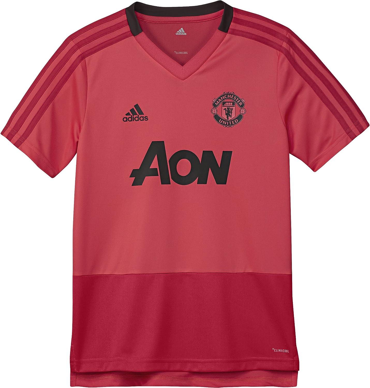 adidas Childrens Manchester United Fc Training Short Sleeve Long Sleeve Sweatshirt