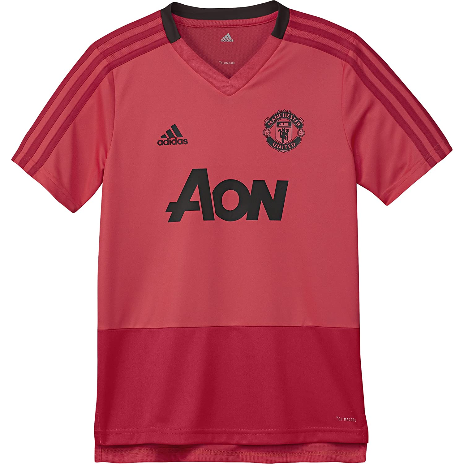 adidas 2018-2019 Man Utd トレーニングシャツ (ピンク) - キッズ 9/10 Years - US Small Boys - 28-30\ rot (500) B07FT2RVJ5