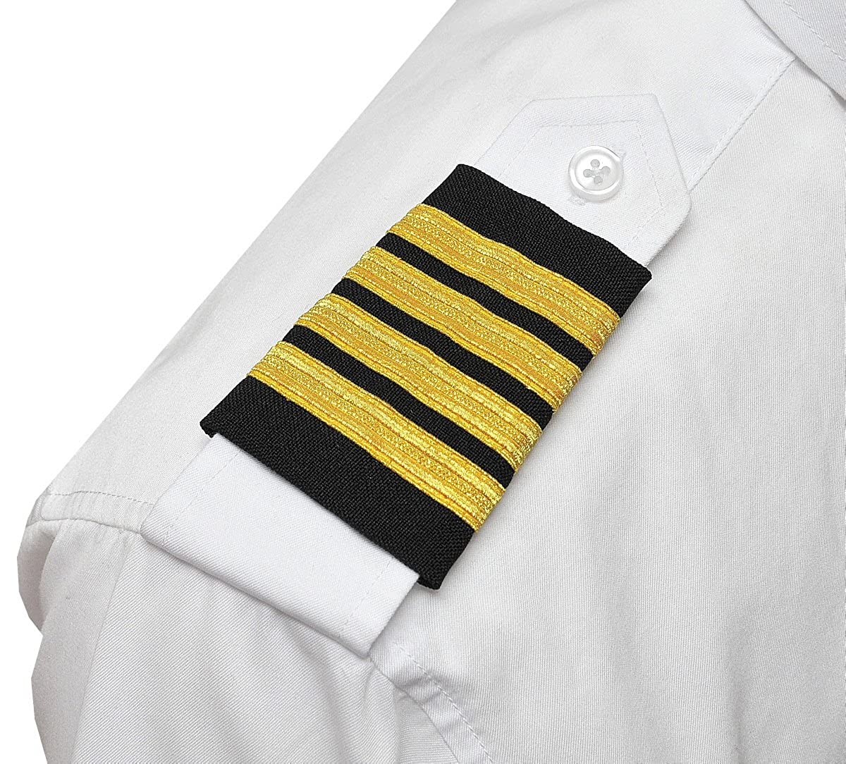 Aero Phoenix Professional Pilot Uniform Epaulets - Four Bars - Captain