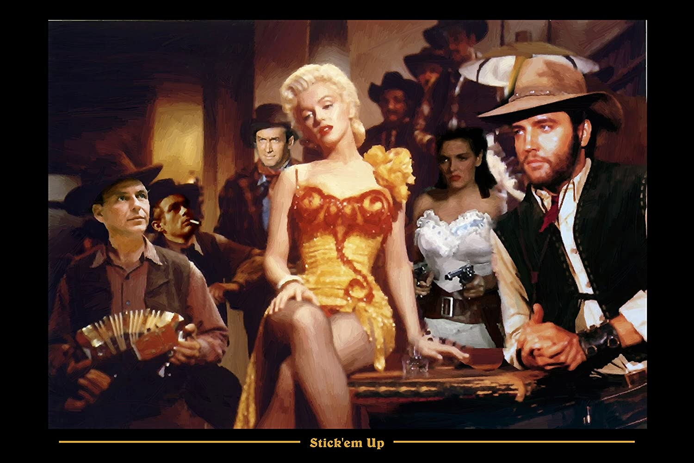 Two American Diner Word Art Posters Picture Elvis Monroe Sinatra James Dean