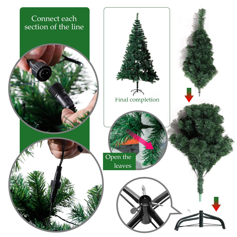 EFORINK Árbol de Navidad Natural Verde Artificial, el árbol de ...