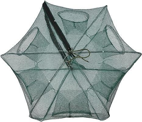 ARAPAIMA FISHING EQUIPMENT K/öderfischreuse Angel K/öder Netz mit Mehreren Eing/ängen Krebsreuse Aalreuse Fischreuse mit Pop Up Funktion
