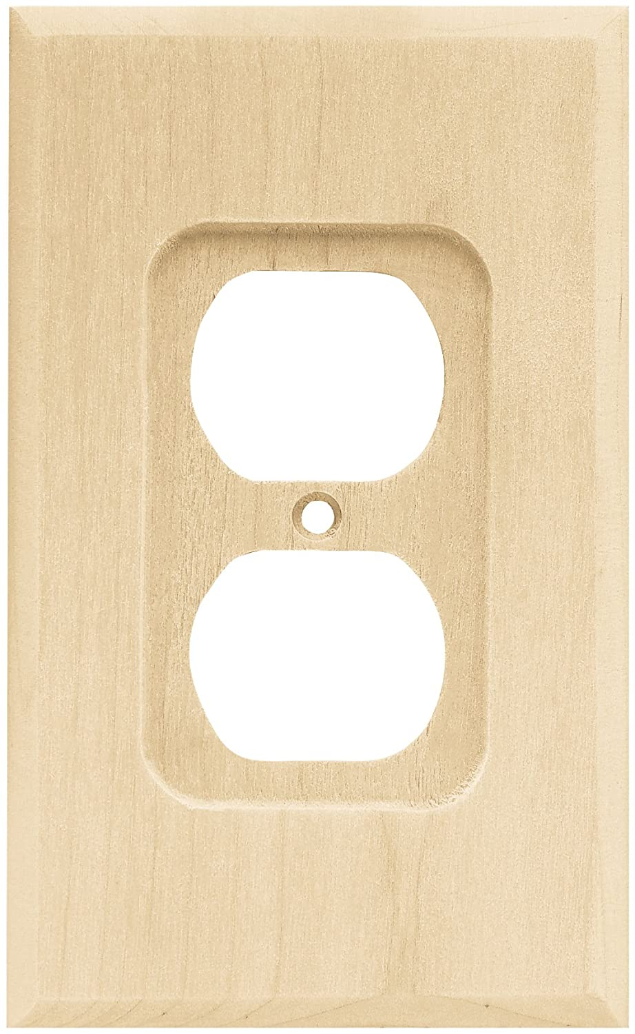 Brainerd 64666 Wood Square Single Duplex Outlet Wall Plate/Switch ...