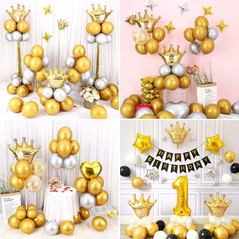 Gafild 60 Pezzi Palloncini festaioli Metallo doro Palloncini,Palloncini Matrimonio per Matrimoni Anniversari Compleanni Vacanze Decorazioni per Feste