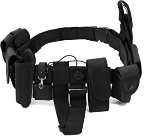 Noa Store Police Security Guard Modular Enforcement Equipment Black Duty Belt Nylon Police Tactical 600D Officer Outdoor Extreme Sports Enthusiast Personnel