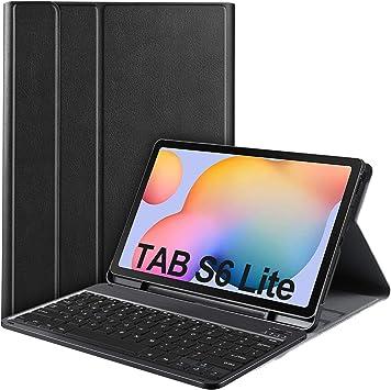 IVSO Teclado Estuche para Samsung Galaxy Tab S6 Lite (QWERTY English), Slim Stand Funda con Removible Wireless Teclado para Samsung Galaxy Tab S6 Lite 10.4 Pulgadas 2020, Black: Amazon.es: Electrónica