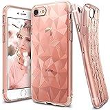 iPhone 7 Hülle, Ringke AIR PRISM 3D Design, ultra chic dünn schlang geometrisches Muster flexible Kompletthülle texturiert schützend TPU Fall geschützt Cover für das Apple iPhone 7 – Rosengold