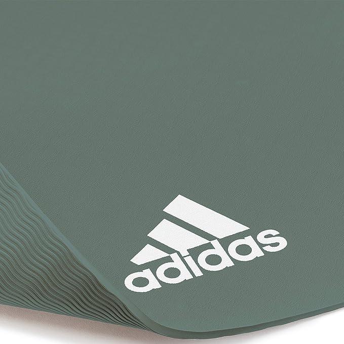 adidas ADYG-10100RG Estera de Yoga, Unisex Adulto, Verde, 8 ...