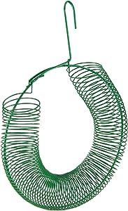 HOME-X Hanging Peanut Wreath Feeder, Round Metal Hanging Bird Feeder for Feeding Birds and Squirrels, 16