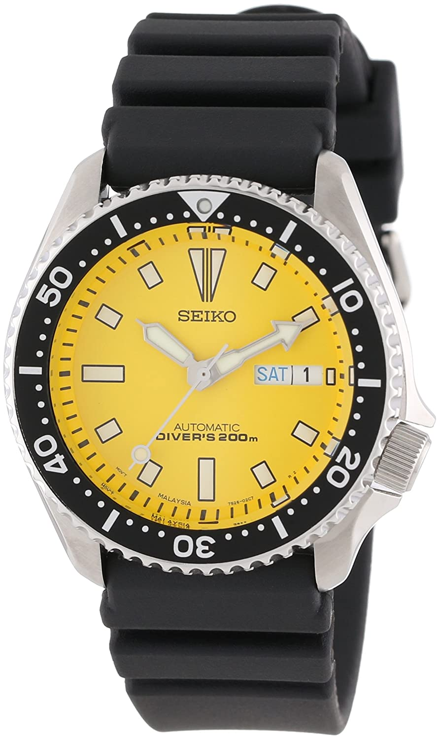 seiko men s skxa35 stainless steel automatic dive watch seiko seiko men s skxa35 stainless steel automatic dive watch seiko amazon co uk watches