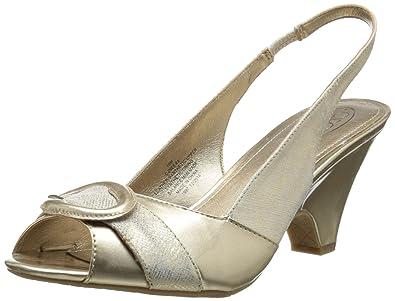 Circa Joan & David Women's Neera Dress Sandal, Off White/Gold, ...