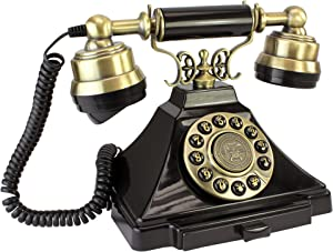 Design Toscano PM1938 Antique Phone - Royal Victoria 1938 Rotary Telephone - Corded Retro Phone - Vintage Decorative Telephones