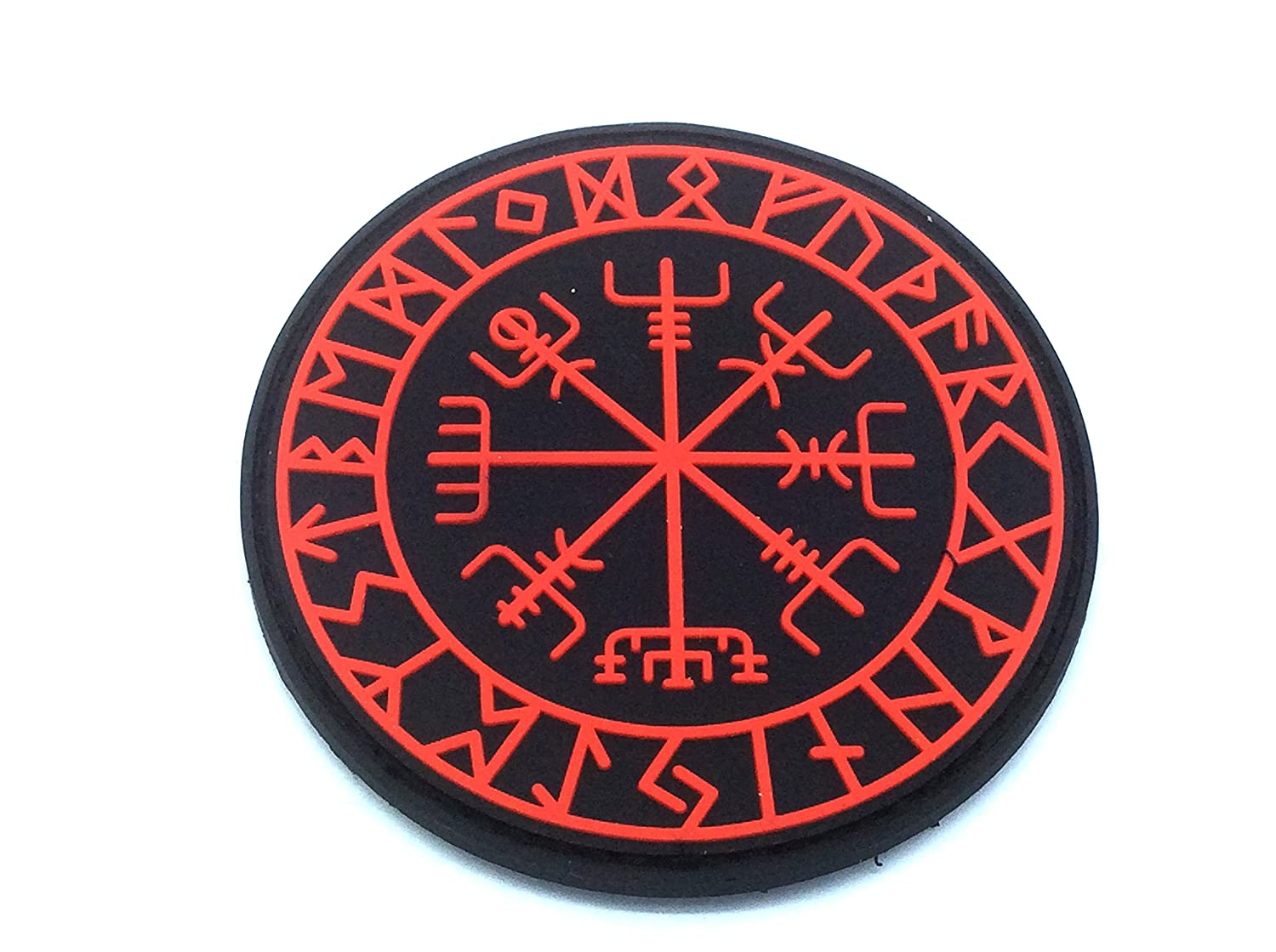 2AFTER1 Aegishjalmr Viking Helm of Awe ACU Subdued Norse Heathen Rune Morale PVC Rubber Fastener Patch