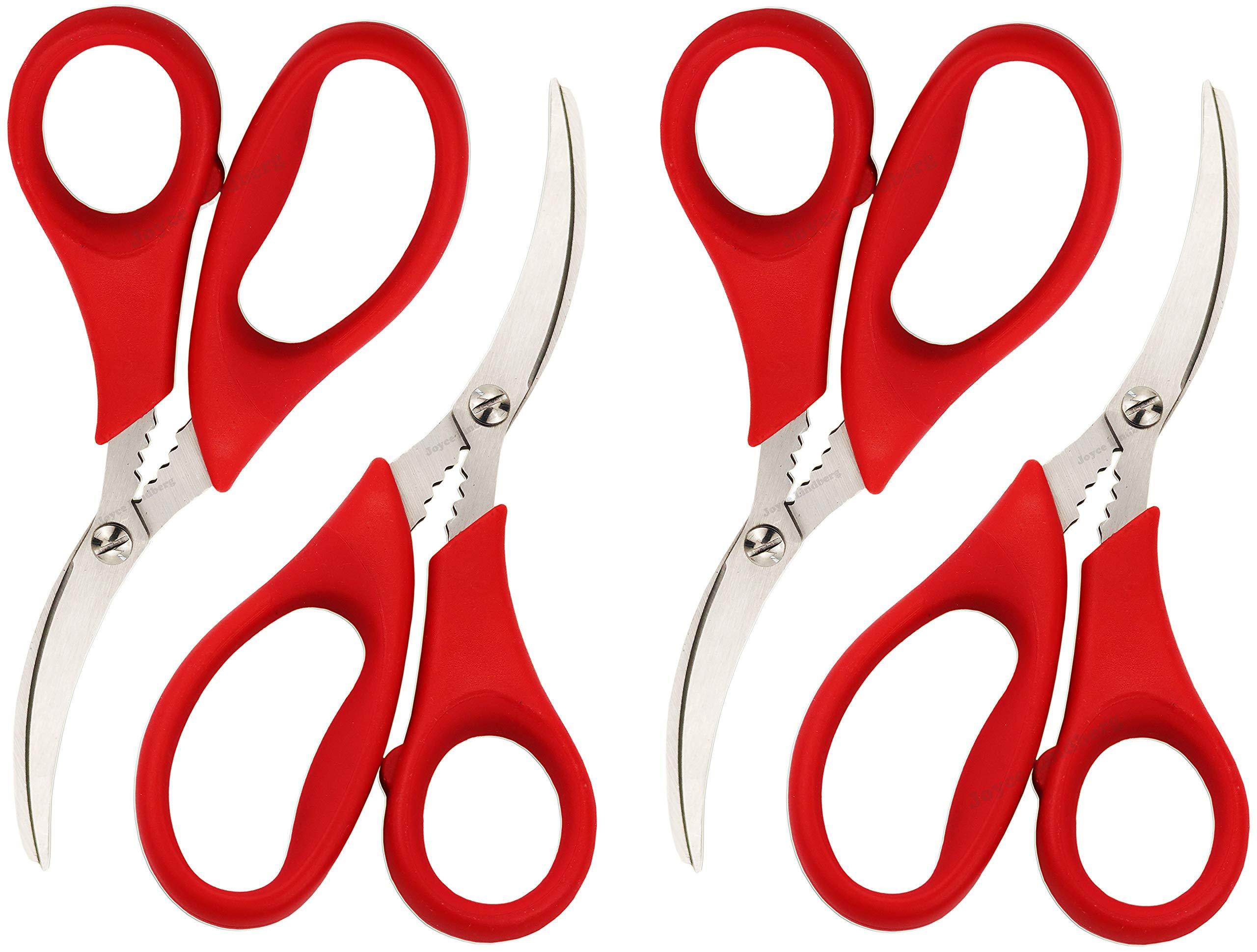 Joyce Lindberg Seafood Scissors for Kitchen Seafood Fish Crab Shrimp Lobster Scissors 4 Pcs by Joyce Lindberg