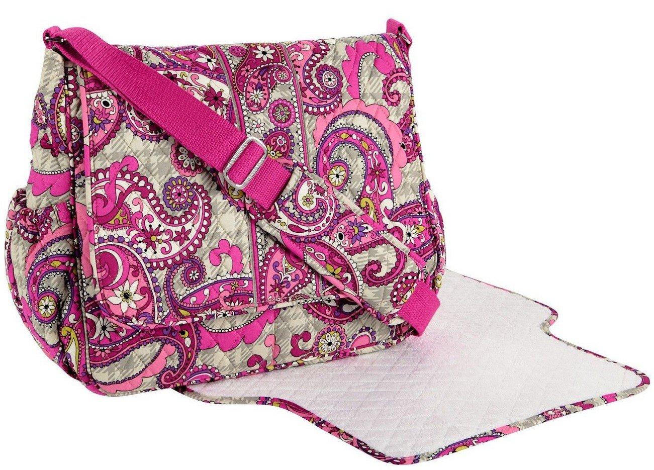 1b663380a4d9 Amazon.com   Vera Bradley Messenger Baby Bag in Paisley Meets Plaid   Baby