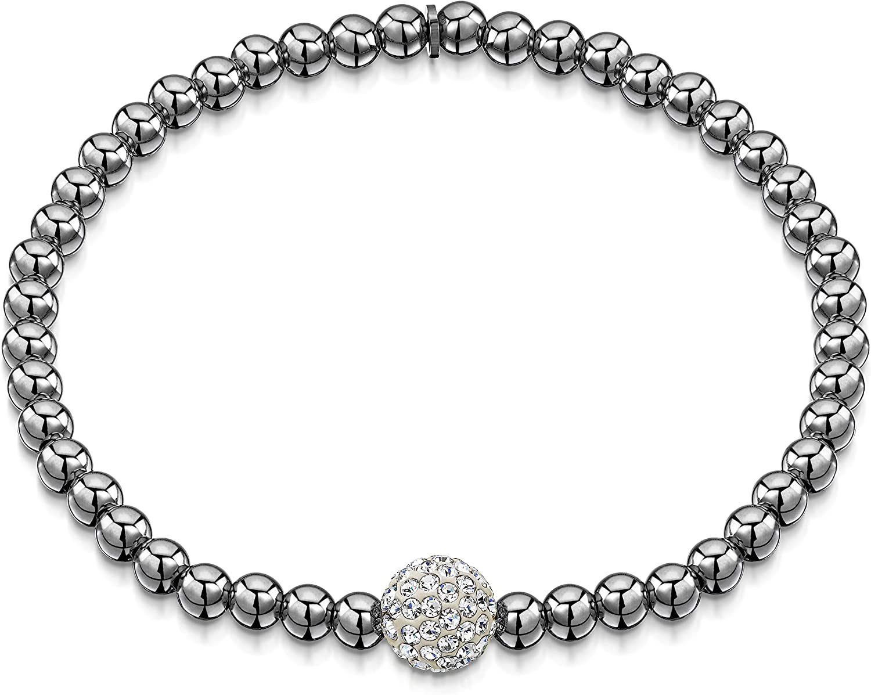 "Silber Armband Schmuck Armreif Damen Frauen  8/"" inch 4mm Zubehör"