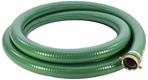 "Abbott Rubber - 1240-2000-25 PVC Suction Hose Assembly, Green, 2"" Male X Female NPSM, 65 psi Max Pressure, 25' Length, 2"" ID"
