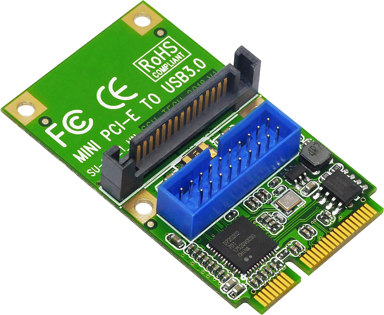 SSU U3121 PCI-E Express to USB 3.0 19Pin 20Pin Expansion Header Card For Desktop