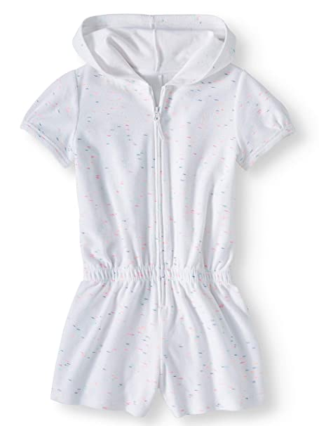 8e3b89eda1 Wonder Nation Girls Hooded Zip Front Terry Swimsuit Cover Up: Amazon.ca:  Clothing & Accessories