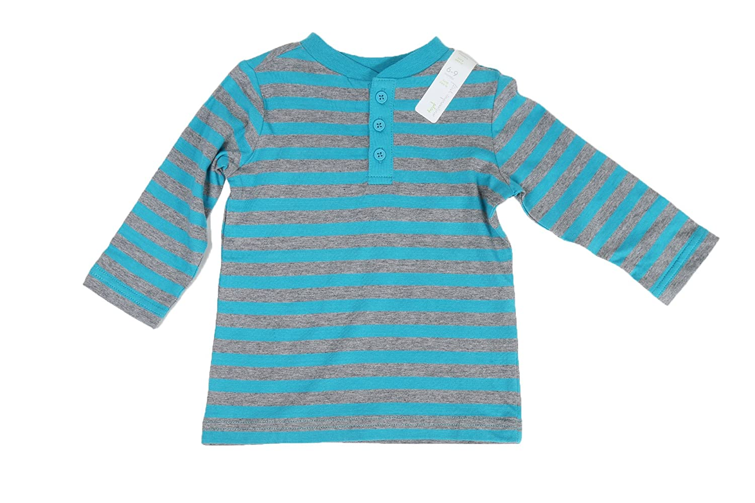 First Impressions Baby Boys' Long-Sleeve Striped Henley T-Shirt,
