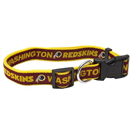 33e802ef Amazon.com : Pets First NFL Washington Redskins Collar, Small : Pet ...