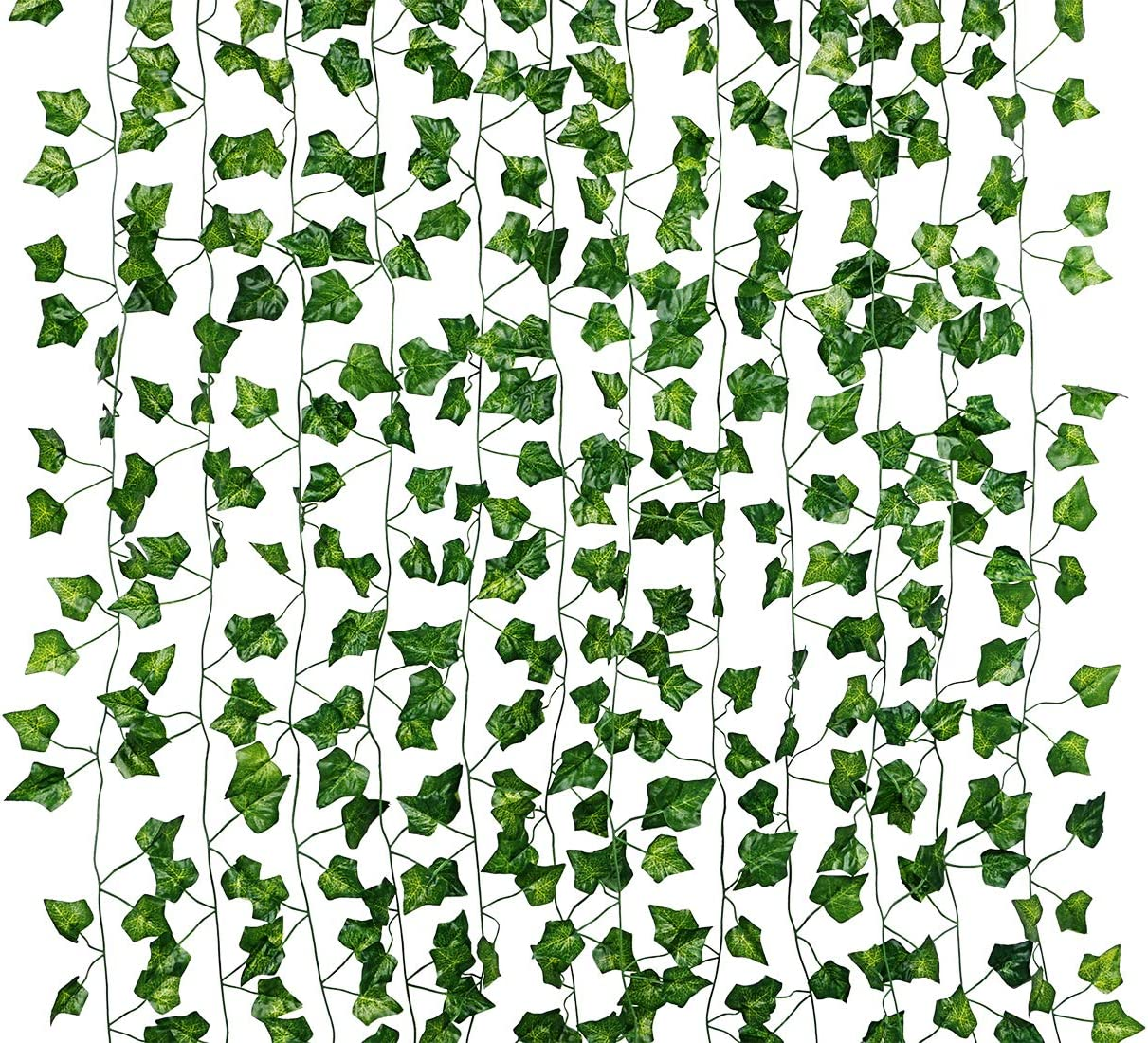Dedoot Ivy Garland, 12 Pack (79 Inch Each) Green Fake Ivy Garland Vine Hanging Artificial Ivy Leaves for Craft Wedding Party Wall and Home Decor