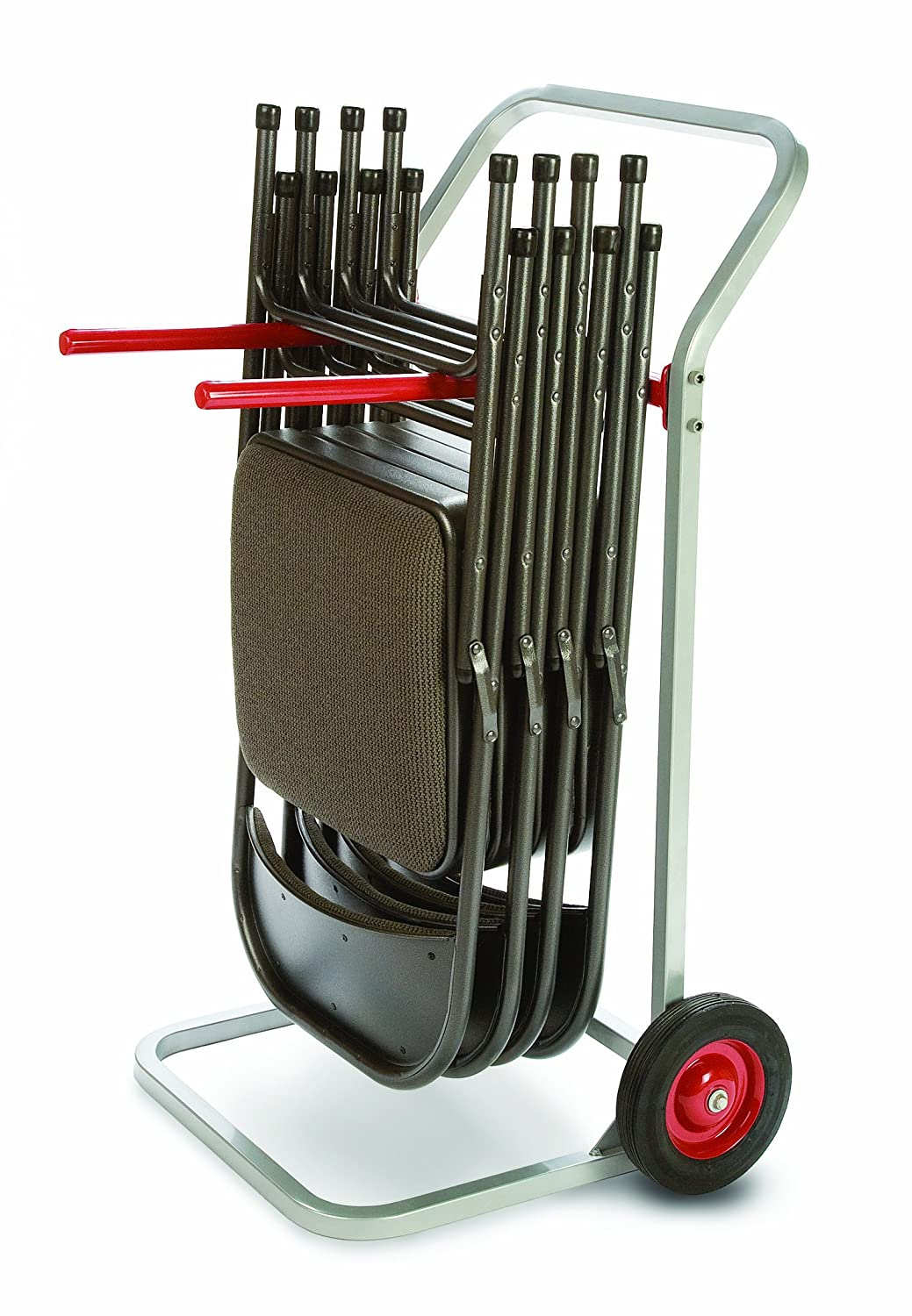 27-3//4 Width x 43 Height x 22-1//2 Depth Raymond 750 Folding Chair Dolly with 8 x 1-3//4 Skid-Resistant Rubber Wheels 180 lbs Capacity