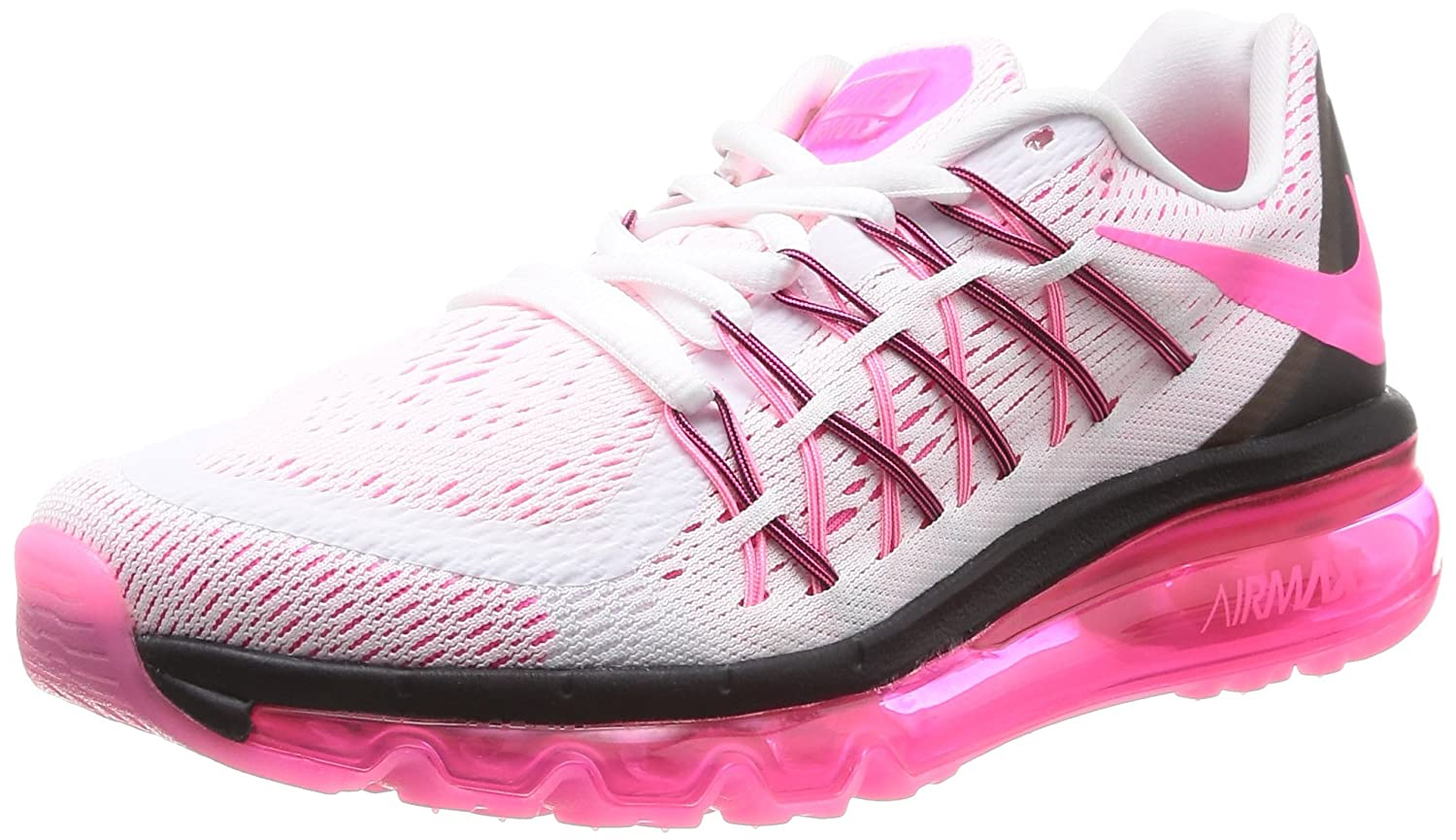 Nike Women s Air Max 2015 White Pink Poe Black Running Shoe 7 Women US
