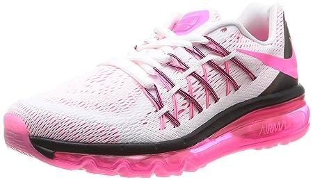 Nike Women s Air Max 2015 White Pink Poe Black Running Shoe 7 Women US