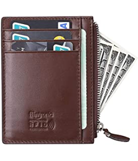 99171dc39393c flintronic ® Kreditkartenetui Echtem Leder Klein