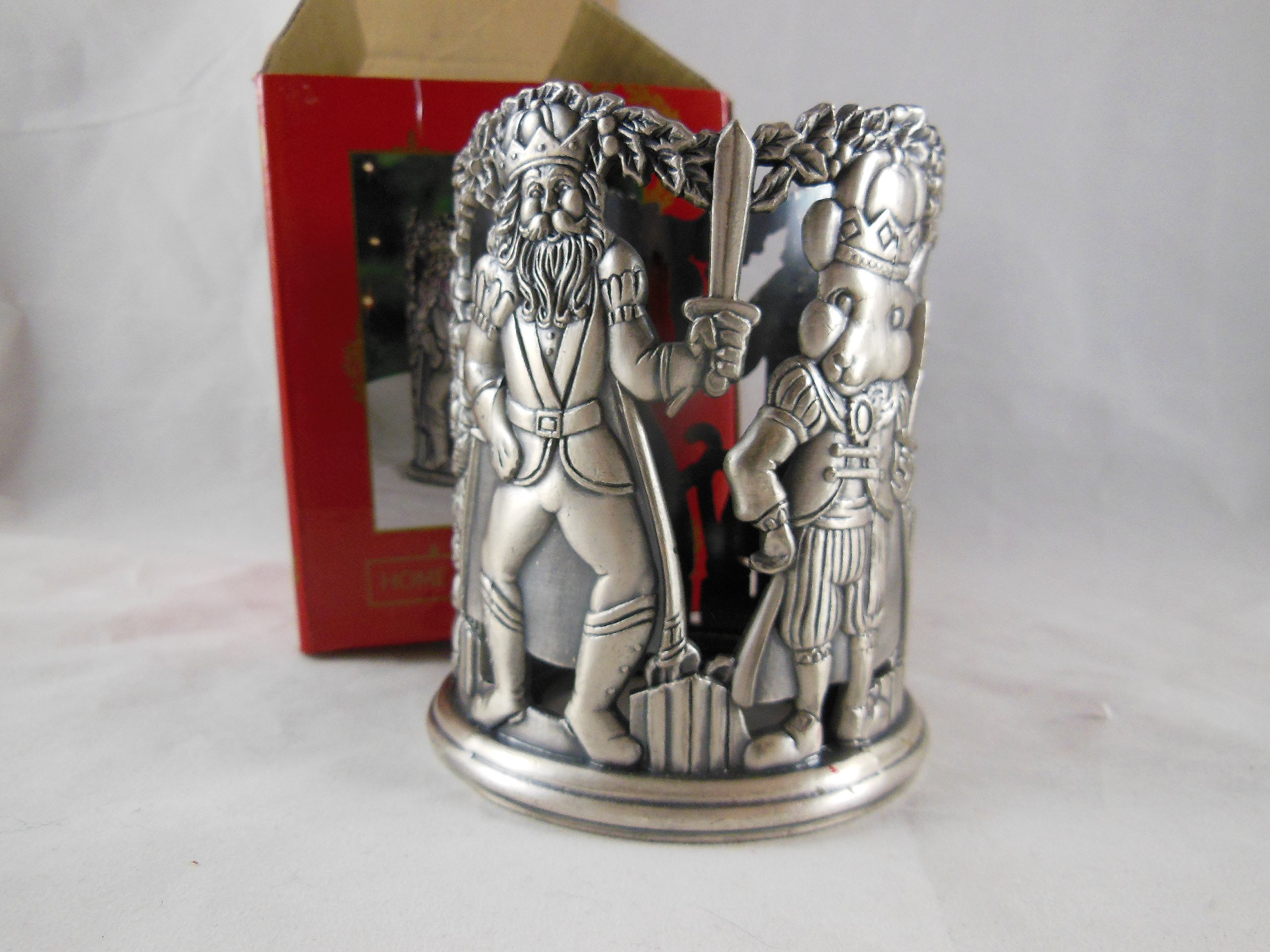 Home for the Holidays Christmas Pewter Votive Tealight Candle Holder Nutcracker # FS284 May Department Stores 1995