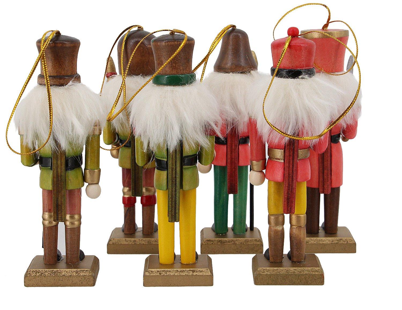 La moriposa Nutcracker Soldier Sets Ornament Christmas Decoration 6 pack