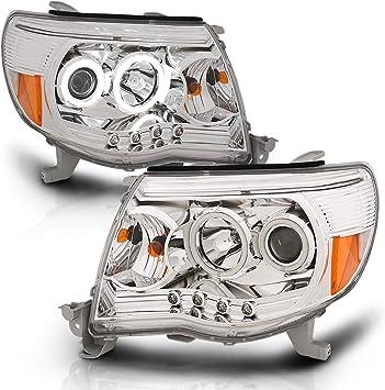 AmeriLite Headlights Black for Toyota Tacoma Passenger and Driver Side