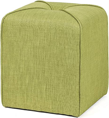 Adeco Modern Simple Cushioned Ottoman Cube