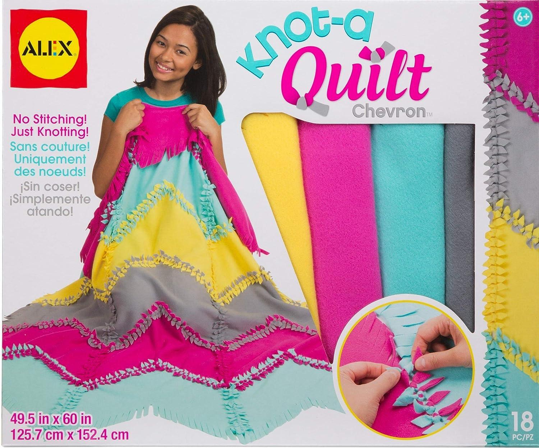 Alex Craft Knot-A-Quilt Chevron Kit Kids Art and Craft Activity