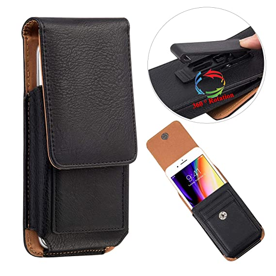online store d8492 34970 Amazon.com: UNIDOPRO PU Leather Waist Pack Holster Belt Pouch Case ...