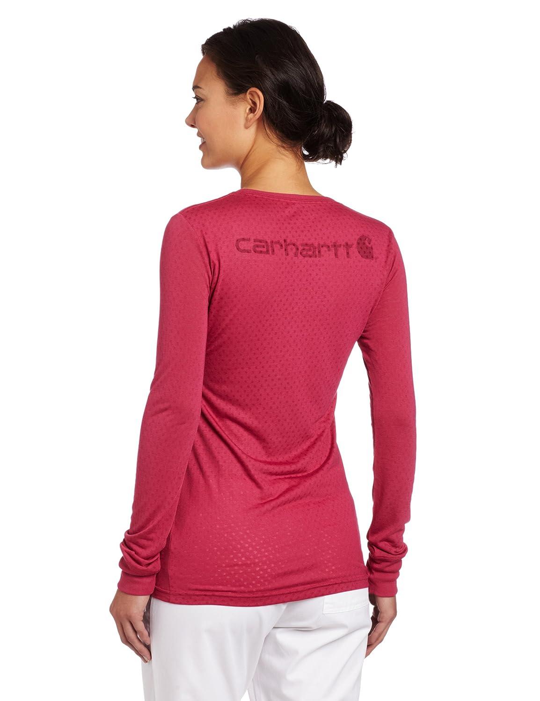 e39647f45fae7 Carhartt Women s Scrubs Long-Sleeve Burnout Jersey T-Shirt at Amazon  Women s Clothing store  Medical Scrubs Shirts