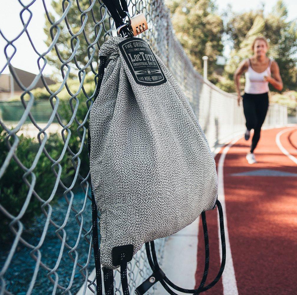 LOCTOTE Flak Sack SPORT - Lightweight Theft-Resistant Drawstring Backpack | Lockable | Slash-Resistant | Portable Safe by LOCTOTE (Image #9)