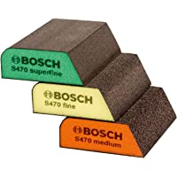 Bosch 3 Piece Sanding Sponge Combi Set (Remove, Prepare, Finish)