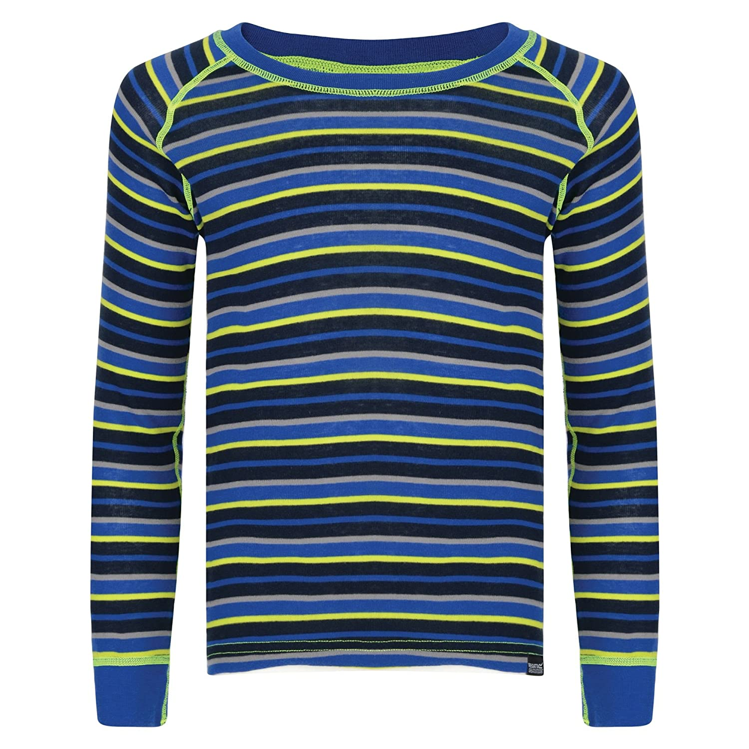 Regatta Great Outdoors Childrens/Kids Elatus Striped Long Sleeve Base Layer Shirt
