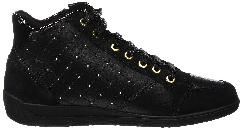 Geox Damen Sneaker D Myria C Hohe Sneaker Damen Schwarz (schwarz C9999) 6f2cdf