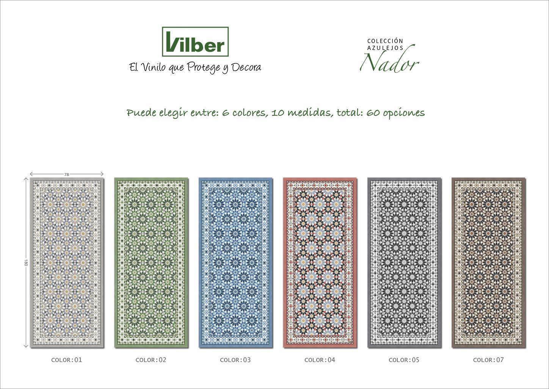 52 x 120 x 0.22 cm Multicolore Vilber NADOR DU 05 Vinile Tappeto