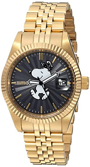 Invicta 24806 Character - Snoopy Reloj para Mujer acero inoxidable Cuarzo Esfera gris