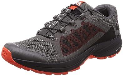 d35141bf64e9 Salomon Men s XA Elevate Trail Running Shoes Magnet Black Cherry Tomato 7