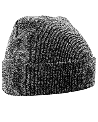SMG Unisex Mens Womens Acrylic Knitted Turn Up Winter Beanie Hat (Antique  Grey)  Amazon.co.uk  Clothing 15d4a912ce6a
